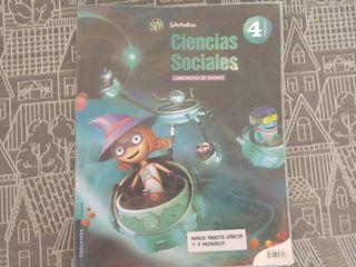 libro de sociales. cuarto de primaria