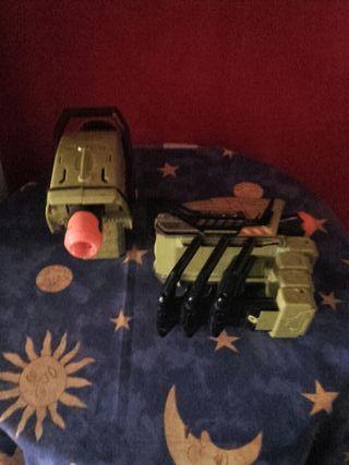 pistolas de transformers modelo doble