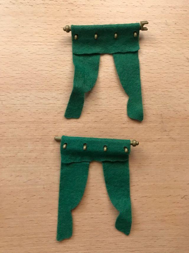 Playmobil lote 2 cortinas verdes de esquina