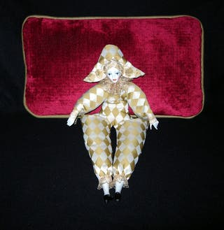 muñeca arlequin ramon ingles