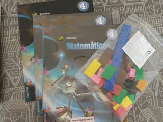 libros matemáticas. cuarto primaria