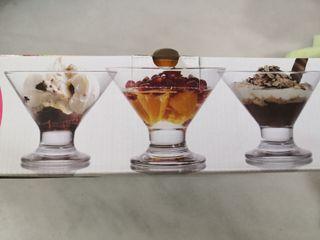 6 dessert glases new