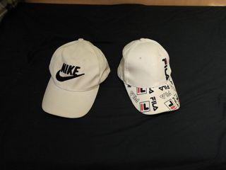 gorras nike y fila