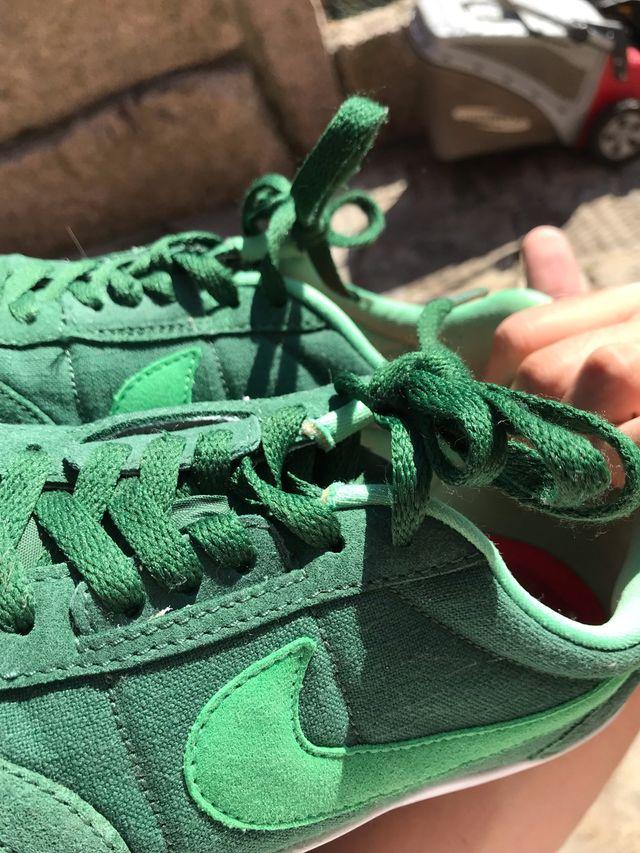 Nike zapatillas verdes skate style (43)