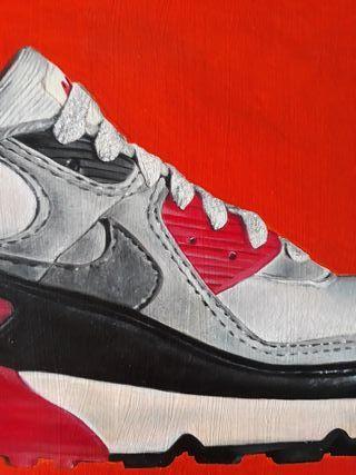 cuadro oleo Nike air max 90 1990