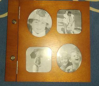 Álbum con portadas de madera 60 fotos