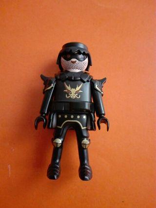 Playmobil caballero medieval negro