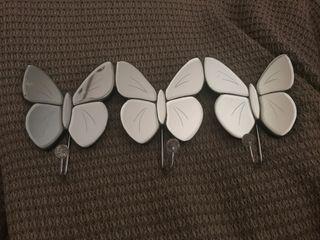 Perchero mariposa