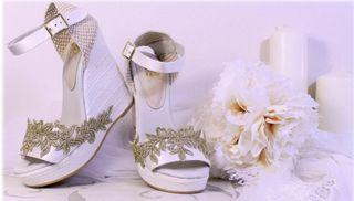 Zapatos/sandalia novia boho