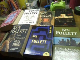 Lote 7 libros bolsillo. Ken Follett.