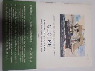 Planos barco de guerra 'Gloire'