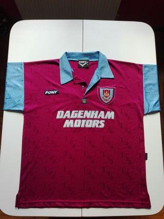Camiseta Pony Del West Ham United F.C. (1995-96)