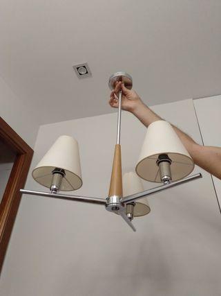 Lámpara salón 3 luces
