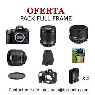 Pack full frame Nikon D600 24.3 MP