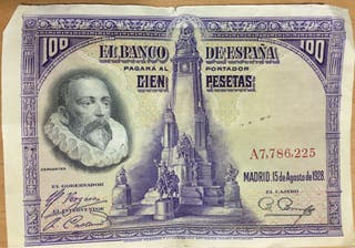 Billete antiguo 100 ptas