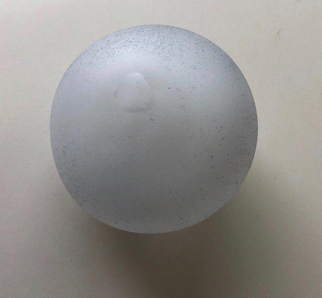 Petit vase pâte de verre sablée soufflé bouche