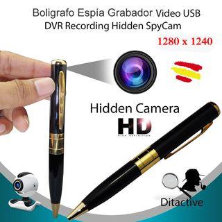Boligrafo ESPIA Con Cámara Oculta Mini Grabador HD