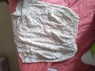 Falda con estampado de lunares