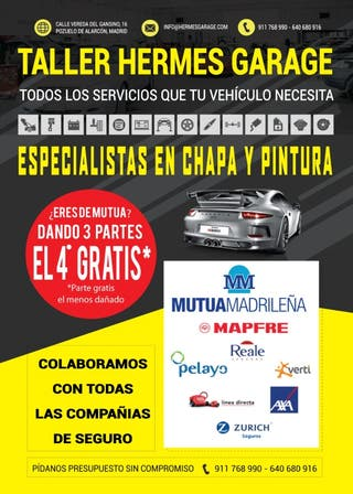 TALLER DE AUTOS ESPECIALISTAS EN CHAPA Y PINTURA