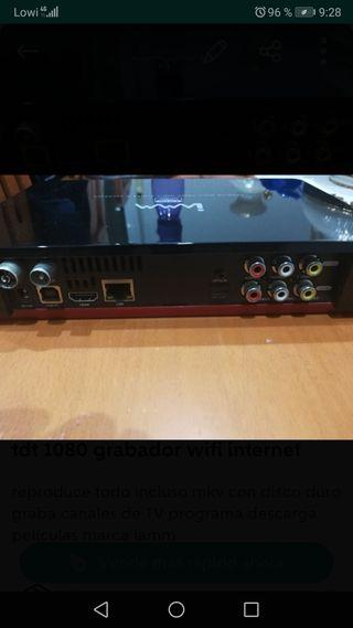 tdt 1080 iamm con wifi, grabador y disco duro