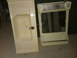Lavabo y mueble de caravana
