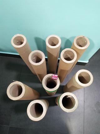 10 tubos de cartón prensado