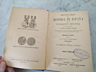 De 1910 Prontuario de Historia de España