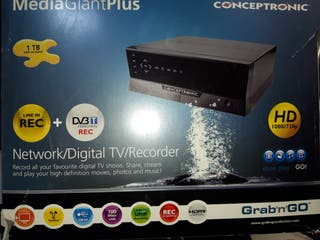 Disco duro multimedia y grabador tv 1 TB