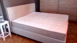 Conjunto de cama colchón 180 cm + base + cabecero