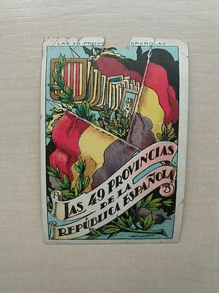 Cromo chocolate Las 44 provincias españolas I.