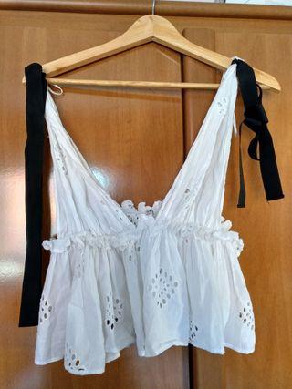 Camiseta evasé Zara S de segunda mano por 5 € en Torrelavega