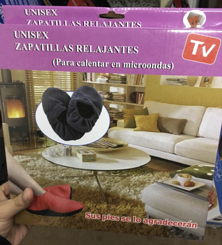 Zapatillas termicas para microondas calentables