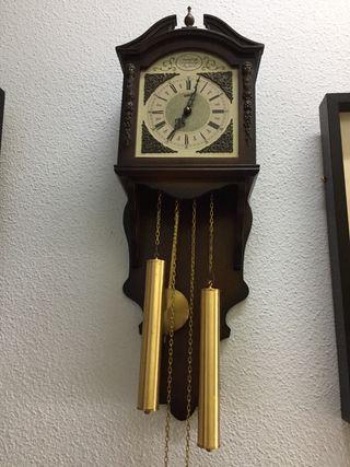 Reloj Antiguo Pared Tempus Fugit Funciona