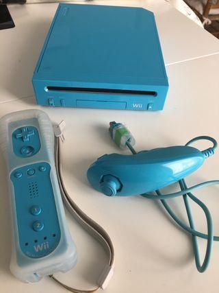 Wii color azul