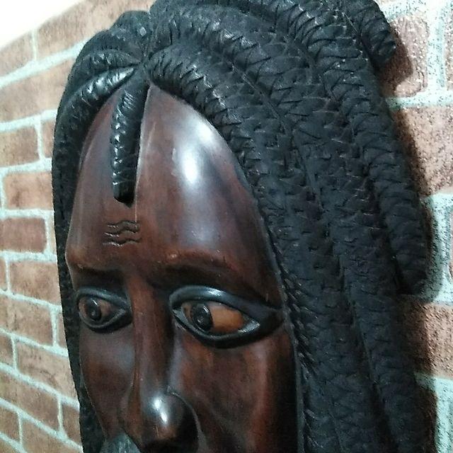 Talla madera Bob Marley Jamaicana vintage año 70