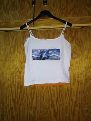 Camiseta cuadro noche estrellada