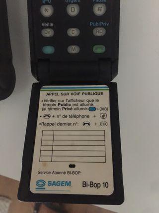Telefono movil antiguoBi-Bop Sagem 1G 1991