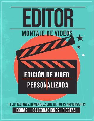 EDITOR DE VIDEO , EDICION DE VIDEO PARA REGALAR