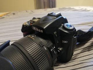 Camara fotos NIKON D90 + objetivo SIGMA 18-200