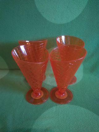 Copas vasos naranjas NUEVOS