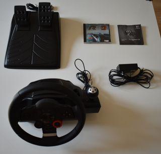Volante Driving Force GT para PS3 y PC + 3 juegos
