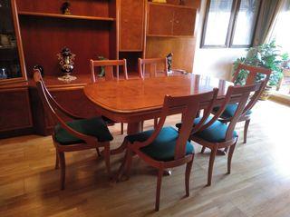 mesa comedor salón 6 sillas