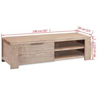 vidaXL Mueble para TV madera maciza de acaci244337