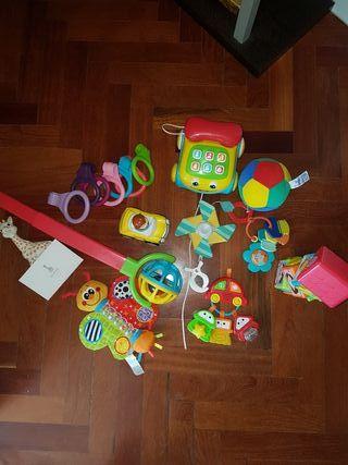 Lotes de juguetes marca vtech y fhisher price.