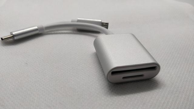 Lector de tarjetas OTG microUSB - USB tipo C