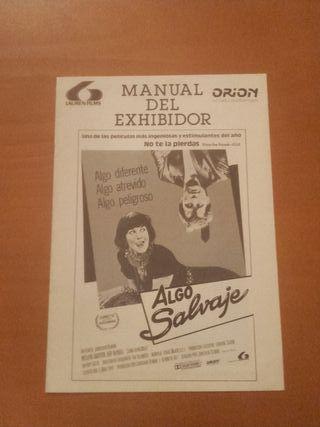 Manual del Exhibidor Algo Salvaje