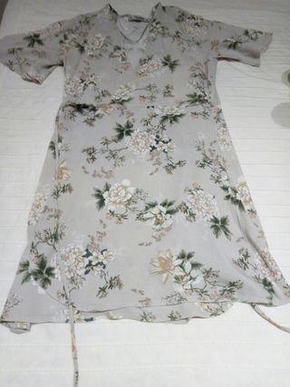 vestido corto camisero talla M