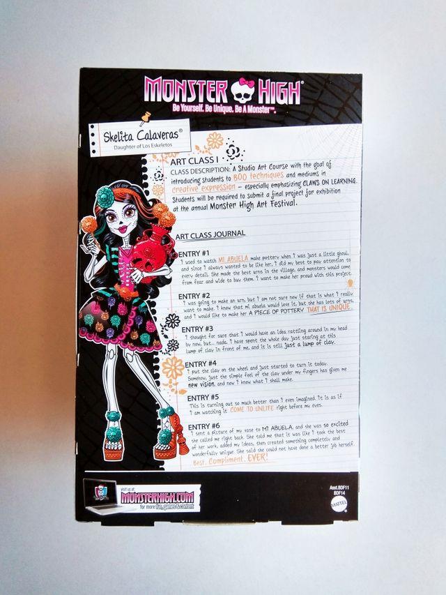 Muñeca Monster High Skelita Calaveras 'Art Class'