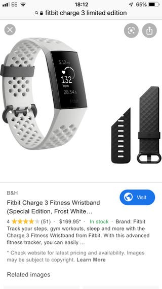 Fitbit charge 3 limited edition