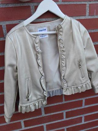 chaqueta niña dorada